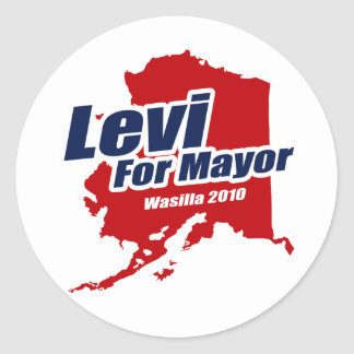Levi for Mayor of Wasilla 2010 Stickers