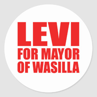 Levi for Mayor of Wasilla Stickers