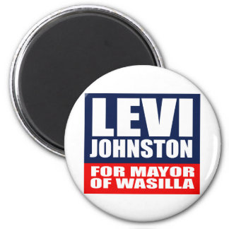 LEVI JOHNSTON FOR MAYOR OF WASILLA 2 INCH ROUND MAGNET