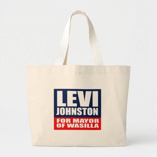 LEVI JOHNSTON FOR MAYOR OF WASILLA CANVAS BAGS
