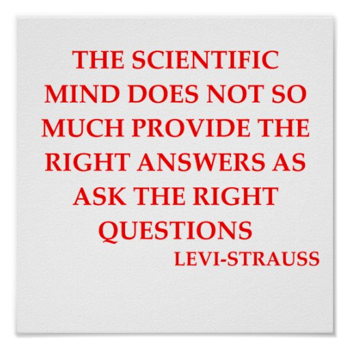 LEVI-strauss quote Poster