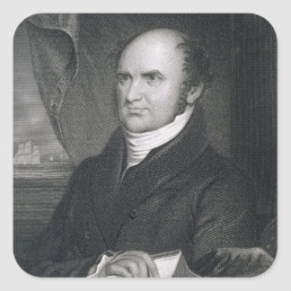 Levi Woodbury, engraved by Robert E. Whitechurch ( Square Sticker