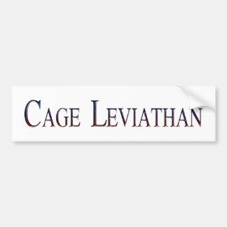Leviatán de la jaula pegatina para auto