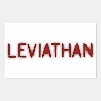 Leviatán Pegatina Rectangular