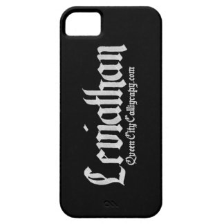 Leviathan blackletter iPhone Case