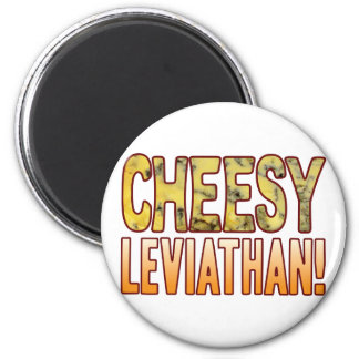 Leviathan Blue Cheesy 2 Inch Round Magnet