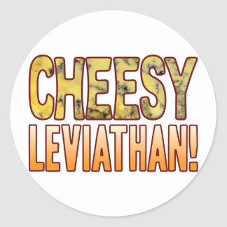 Leviathan Blue Cheesy Classic Round Sticker