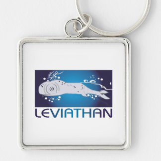 Leviathan Silver-Colored Square Keychain