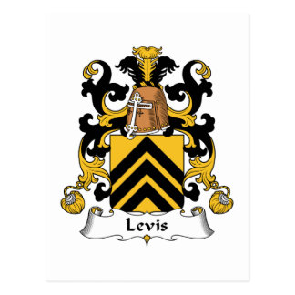Levis Family Crest Post Card