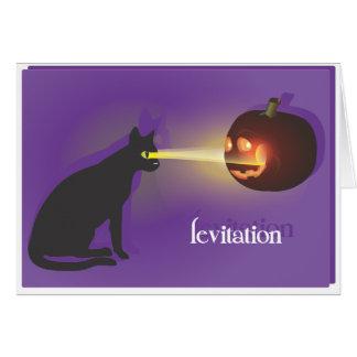 Levitación de Halloween Tarjetas