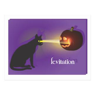 Levitación de Halloween Postal