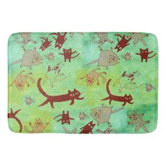 levitating kitties bath mat