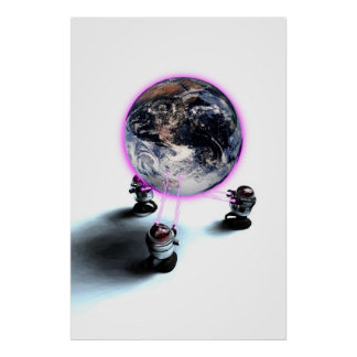 Levitating the Earth Poster