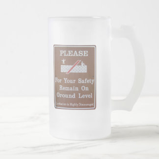 Levitation is Discouraged Frosted Mug