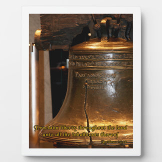 Leviticus Liberty Bell Plaque