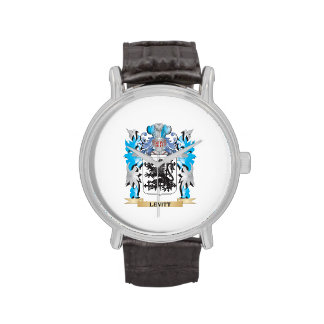 Levitt Coat of Arms - Family Crest Wrist Watches