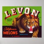 Levon California Melons Poster