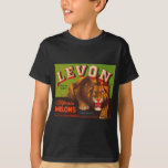 Levon Lion Melons Fruit Crate Label T-Shirt