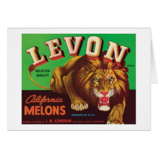 Levon Melons Vintage Label Stationery Note Card