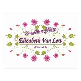 Lew ~ Elizabeth Van / Famous USA Women Post Cards