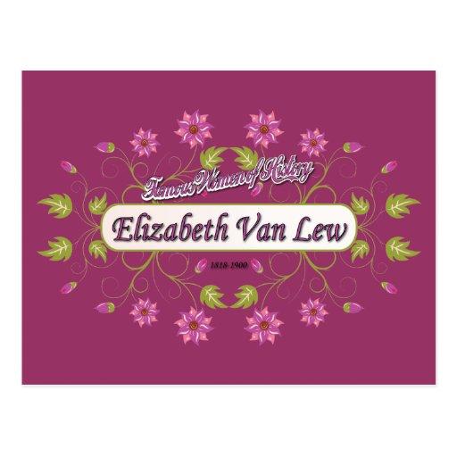 Lew ~ Elizabeth Van / Famous USA Women Postcard