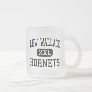 Lew Wallace - Hornets - High School - Gary Indiana 10 Oz Frosted Glass Coffee Mug