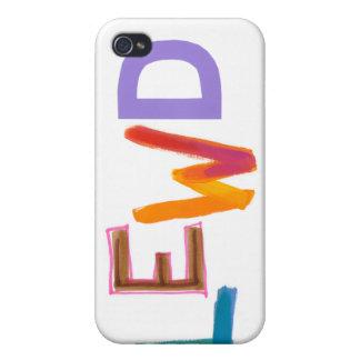 Lewd fun silly risque crude naughty word art iPhone 4/4S case