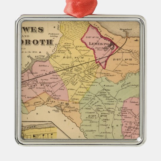 Lewes and Rehoboth Metal Ornament