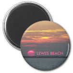 LEWES BEACH 2 INCH ROUND MAGNET