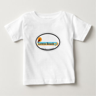 Lewes Beach Oval Design. Baby T-Shirt