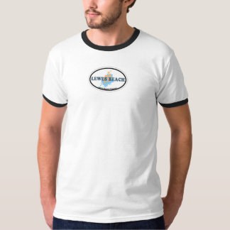 Lewes Beach Oval Design. T-Shirt