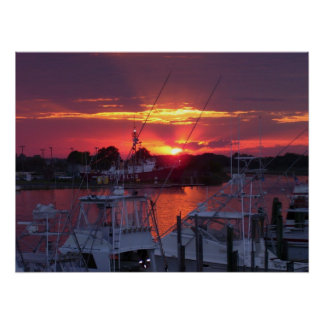 Lewes Canal Sunset 2005 Print