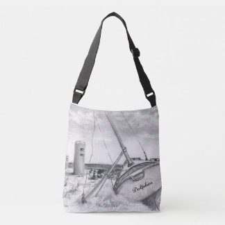 Lewes, Delaware boat & WW11 observation tower. Crossbody Bag