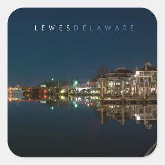 Lewes Delaware Pegatina Cuadrada