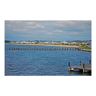 Lewes harbor from ferry poster