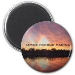 LEWES HARBOR MARINA 2 INCH ROUND MAGNET