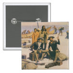 Lewis and Clark at the Columbia River 2 Inch Square Button