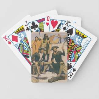 Lewis and Clark at the Columbia River Bicycle Playing Cards