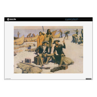 Lewis and Clark at the Columbia River Decal For Laptop