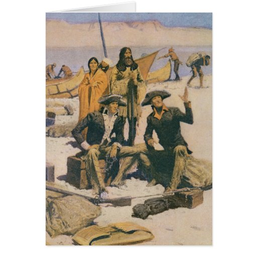 Lewis and Clark at the Columbia River Greeting Card