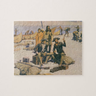 Lewis and Clark at the Columbia River Jigsaw Puzzle