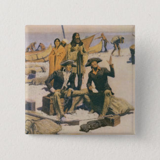 Lewis and Clark at the Columbia River Pinback Button