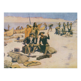Lewis and Clark at the Columbia River Postcard