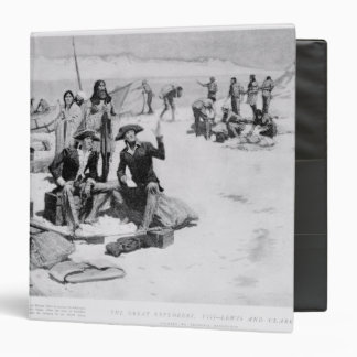 Lewis and Clark at the mouth of the Columbia 3 Ring Binder