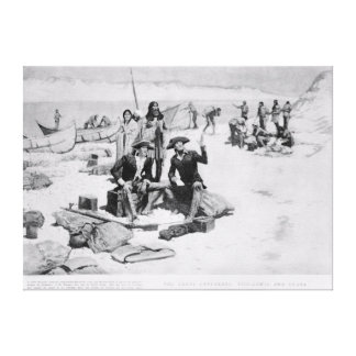 Lewis and Clark at the mouth of the Columbia Canvas Print
