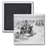 Lewis and Clark at the mouth of the Columbia 2 Inch Square Magnet