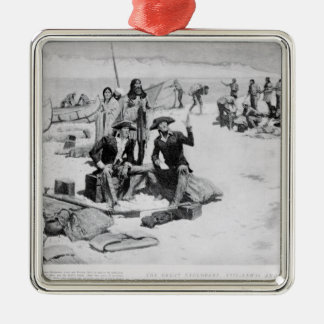 Lewis and Clark at the mouth of the Columbia Metal Ornament