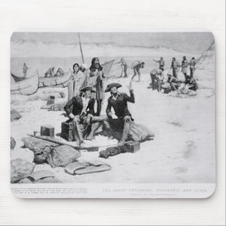 Lewis and Clark at the mouth of the Columbia Mouse Pad