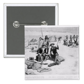 Lewis and Clark at the mouth of the Columbia Pinback Button