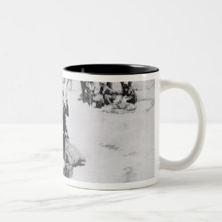 Lewis and Clark at the mouth of the Columbia Two-Tone Coffee Mug